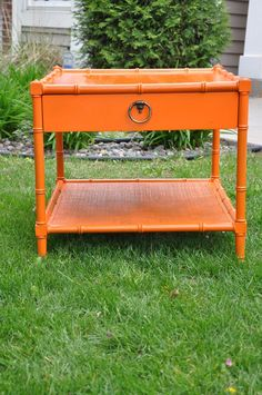 love this.  painted with Real Orange in gloss finish from Rustoleum