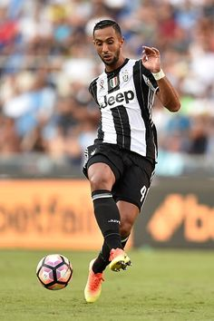 Medhi Benatia of FC Juventus in action during the Serie A soccer match between SS Lazio and FC Juventus at Stadio Olimpico in Rome Italy on August 27...