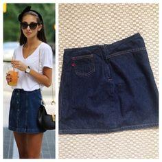 Guess Dark Denim Jean Skirt Dark denim Jean skirt. Brand Guess. One small pocket in front. Zipper closure. 100% cotton. **Size 24 - not plus Guess Skirts