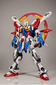 "gundamexousia: "" MG 1/100 God Gundam Evolve - Customized Build Modeled by: primarymh More Gundam= Click Here """