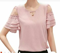 Resultado de imagen para sewing tutorials for ladies blouse Blouse Patterns, Blouse Designs, Cool Outfits, Casual Outfits, Fashion Details, Fashion Design, Blouse And Skirt, Blouses For Women, Designer Dresses