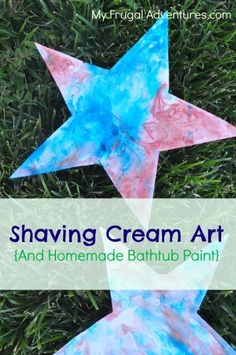 Super cheap and easy shaving cream paint (doubles as bathtub paint too!