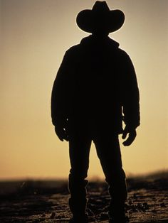 cowboys, the ghost and silhouette legends of the country where the sun sets