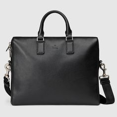 leather briefcase with gusset