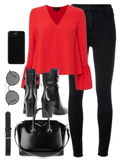 """""""Untitled #3269"""" by theaverageauburn on Polyvore featuring J Brand, Exclusive for Intermix, Isabel Marant, Givenchy, Ray-Ban and M&Co"""