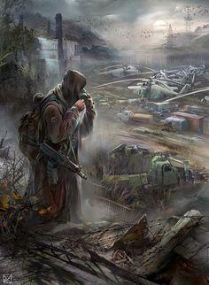 Apocalypse World, Apocalypse Art, Apocalypse Survival, Fallout Posters, Fallout Art, Zombies, Dark Fantasy, Fantasy Art, Apocalypse Landscape