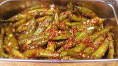 Korean Food, Kimchi, No Cook Meals, Green Beans, Recipies, Asian, Baking, Vegetables, Recipes