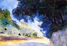 John Singer Sargent - Landscape, Olive Trees, Corfu - 1909