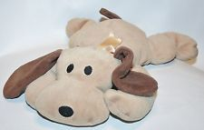 TY Pillow Pals WOOF Plush Brown Puppy Dog 1994 Retired Plush STUFFED Lovey