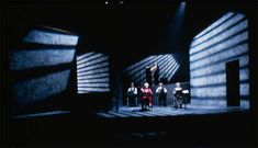 strong point source from stage left, clearly showing some light from the right giving a harsh dramatic shadow Stage Set Design, Set Design Theatre, Bühnen Design, Scenic Design, Stage Lighting, Victoria, Installation Art, Staging, Lighting Design