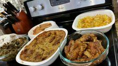 Ig/Pinterest: @kemsxdeniyi  Collard greens,chicken dressing,pigfeets,mac and cheese, cornbread.