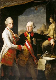 """Archduke Leopold of Austria with his brother Franz Joseph"" by Pompeo Batoni (1769)"