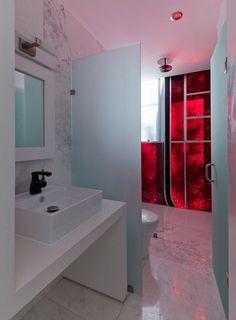 Bathroom | LVII residential building, Mexico by Arquitectura en Movimiento |