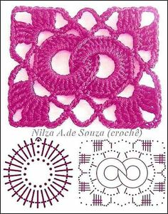 Crochet Patterns Stitches Beautiful crochet samples - with graphics Filet Crochet, Crochet Motifs, Crochet Blocks, Granny Square Crochet Pattern, Crochet Flower Patterns, Crochet Diagram, Crochet Stitches Patterns, Crochet Chart, Crochet Squares
