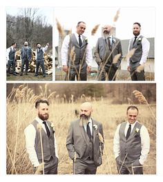 The guys.  Photo courtesy of Monika Broz Photography.  #barnwedding #rusticwedding #chicwedding