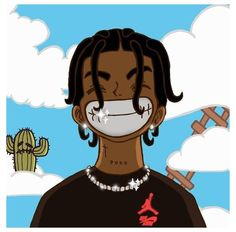 Black Cartoon Characters, Black Girl Cartoon, Cartoon Boy, Black Girl Art, Black Anime Guy, Swag Cartoon, Dope Cartoon Art, Cartoon Art Styles, Anime Rapper