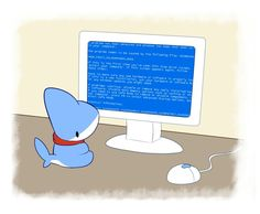 My PC went down by Vress-shark Baby Shark Do Do, Pet Shark, Shark Art, Animal Drawings, Cute Drawings, Animals And Pets, Cute Animals, Draw Animals, Pokemon Comics