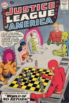 The Top 20 Justice League Comic Book Covers ~ (I actually HAD this issue! @Nyrhalahotep)