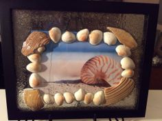 New on my Etsy! $25.00 Put your own picture in this 3D Shadow Box Picture Frame with real Shells and Beach Sand from the local beach (salisbury beach, ma) Luxedesignsbylucy