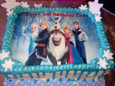Frozen sheet cake I CAKES Pinterest Cake Birthdays and
