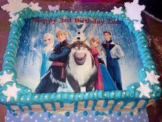 Our version of a Frozen frozen Sheet Cake Cake ideas Pinterest