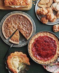 Flemish Sugar Tart, Recipe from Martha Stewart Living, December 2012
