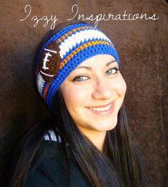 crochet football headband | ... crochet #izzyinspirations #football #headband #earwarmer #broncos # Crochet Cap, Crochet Hood, Crochet Headband Pattern, Crochet Quilt, Crochet Beanie, Crochet Hair Styles, Crochet Hair Accessories, Crochet Woman, Crochet Fashion
