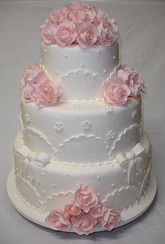 Romantic Wedding Cake by *Ded's*, via Flickr