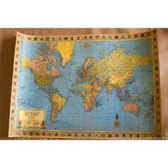 World map vintage style huge art poster print ocm world antique style map see more 36x24 10bones gumiabroncs Images