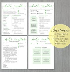Resume Template For Ms Word With Photo Theresa  By Templatesnm