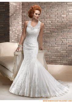 Belle robe de mariée sirène 2013 appliques organza