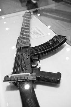 Gun guitar.