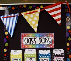 Diy pennants using ribbon or string and cut outs from laminated paper, cardstock, poster board or scrapbook paper