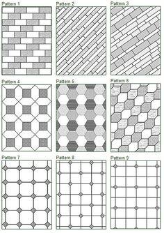 Floor Tile Patterns would make good quilt pattern
