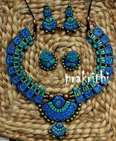 Funky Jewelry, Diy Jewelry, Jewelery, Jewelry Design, Jewelry Making, Terracotta Jewellery Designs, Terracota Jewellery, Play Clay, Air Dry Clay