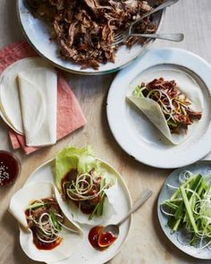 Nigella Lawson's slow-roast five-spice lamb with Chinese pancakes: just put the ingredients – all six of them – in a tin and leave in the oven.