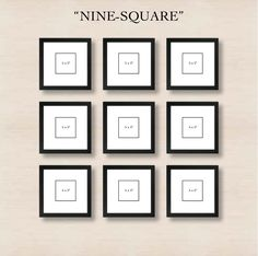 Creating  a gallery wall - nine-square