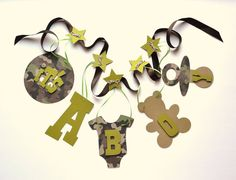 Camo baby shower decorations It's a boy banner by by ParkersPrints, $15.50