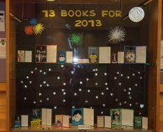 New Years Book Display for Library