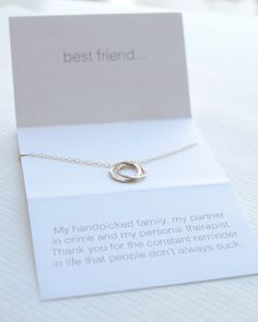 If you and your bestie have a wicked sense of humor, this necklace was handmade just for you. From $34 in silver, gold or rose gold!