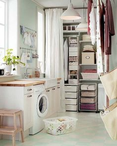 organised laundry room design ideas with affordable ikea furniture