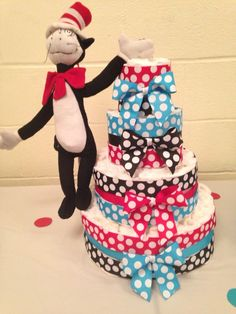Seuss Diaper Cake