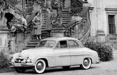 1956, Prague, Czechoslovakia car  Škoda 1201 (version sedan)