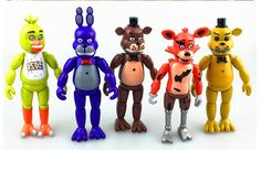 Five Nights At Freddy's FNAF 5.5 Inch PVC Action Figure Toy Foxy Gold Freddy Chica Freddy With 2 Color Christmas gift #Affiliate