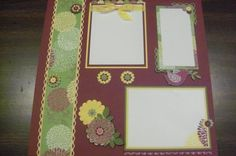 Scrapbook Page Promoting Floral District DSP