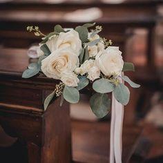 delicate floral church decor