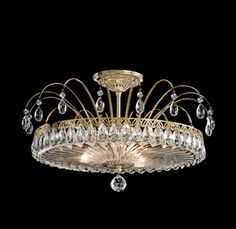 Buy the Schonbek Heirloom Gold Direct. Shop for the Schonbek Heirloom Gold Fontana Luce 3 Light Wide Semi-Flush Ceiling Fixture with Clear Heritage Crystals and save. Crystal Light Fixture, Crystal Ceiling Light, Ceiling Light Fixtures, Led Ceiling, Crystal Chandeliers, Schonbek Chandelier, Jewellery Showroom, Italian Chandelier, Light Decorations