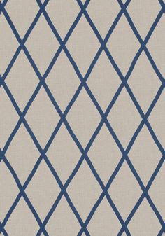 TARASCON TRELLIS APPLIQUE, Navy on Natural, AW78713, Collection Palampore from Anna French