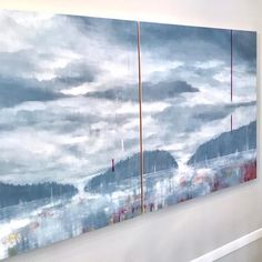 diptych + stairwell = call in the professionals Installing art in stairwells can be tricky but David and Mike… Abstract Landscape, Canning, Landscapes, David, Outdoor, Instagram, Art, Paisajes, Outdoors