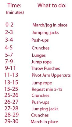 30 min workout while watching TV- Perfect for days I don't want to get on the treadmill.